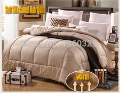 200*230cm Camel Hair Winter Blanket Queen Size Thickening Quilt Double colchas Soft Brushed Printing edredom zara Free Shipping #Affiliate