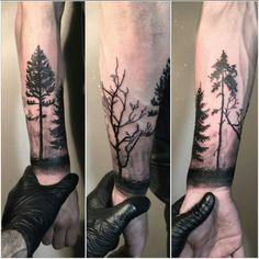 Tattoos From Around The World – Voyage Afield Arm Tattoos For Guys Forearm, Forearm Tattoo Design, Tattoo Bras Homme, Filigree Tattoo, Tree Tattoo Arm, Sketchy Tattoo, Natur Tattoos, Forest Tattoos, Modern Tattoos