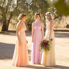What a breathtaking beautiful boho bridal editorial featuring our goddessbynature romantic chiffon rosettes ballgown and vintage lace multiway ballgowns in lilac & sweet blush colours  #whiterunway