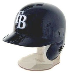 Riddell Brand - NOT Rawlings.  Tampa Bay Rays Mini Batting Helmet