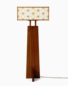 ASA-NO-HA Floor Lamp By: George Nakashima Edition One of a Kind Signature: Marked with Nakashima's Son's Name Material: American Black Walnut, White Cedar, Fiberglass Design Date: 1974 Dimensions: 59.5 x 24.25 x 24.25 in