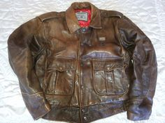 Chevignon Flying Jacket Cuir Junior Vintage High Safety Vêtements, Accessoires