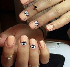 Accurate nails Apricot nails Beautiful nails 2020 Beautiful summer nails Fashion nails 2020 Gentle summer nails Light summer nails Manicure by summer dress Best Nail Art Designs, Short Nail Designs, Hair And Nails, My Nails, Nailart Glitter, Evil Eye Nails, Beauty And More, Pink Nail Art, Short Nails Art