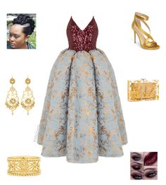 """""""Wedding Guest"""" by irockcrowns ❤ liked on Polyvore featuring Rasario, Imagine by Vince Camuto, Konstantino and Jose & Maria Barrera"""
