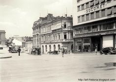 Piața Teatrului Național. Beraria Gambrinus Bucharest Romania, Old City, Old Pictures, Time Travel, Places To Visit, Street View, Architecture, Dan, Buildings
