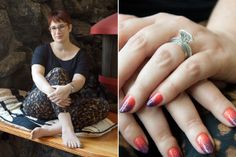 [Julia Gogosha Clarke's] nail are awesome!  Pretty cool alternative engagement ring too