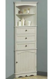 Merveilleux French Country Corner Linen Cabinet