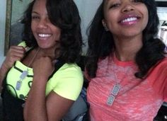 Breaunna Womack and Zonnique Pullins from the OMG Girlz