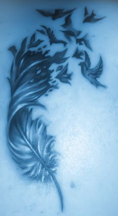 Trisha's beautiful variation of the Bird's of a Feather Tattoo by Pierce Godbay, Binghamton, NY