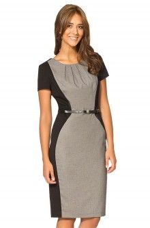 Figurbetonendes Business-Kleid