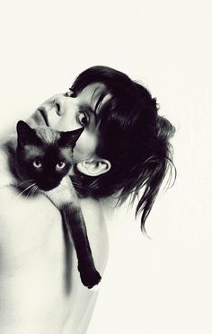 A Siamese and Lily Allen - perfect pick for a pet. Lily Allen, Crazy Cat Lady, Crazy Cats, I Love Cats, Cool Cats, Siamese Cats, Cats And Kittens, Celebrities With Cats, Animal Gato