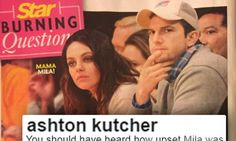 Ashton Kutcher shades Star mag for false cheating story | Daily Mail Online