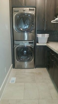 Stackable laundry room
