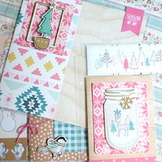 We will be creating our annual Christmas album using the brand new, pastel and playful Crate Paper Snow & Cocoa collection and products from Tim Holtz Ideology, Ranger, PinkFresh Designs, May Arts, and American Crafts. This kit is huge! From...