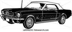 1964, auto, auto, klassische, furt, mustang, sport, Große Clipart Grafik anschauen
