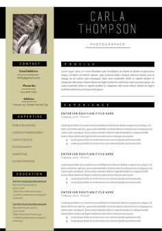 resume cv template cover letter for ms word by cocoresumes