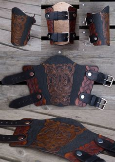 My newest piece of leatherwork. I used an old pattern, the next project will contain one of my own designs again. But I love this Oseberg-style pattern and it was a long time since I did it the las...