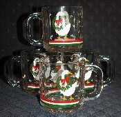 Libbey Holiday Goose Glass Mug Sets