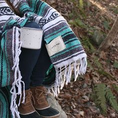 Lago Mexican Falsa Blanket by Mntn & Moon - Camping blanket. Travel companion. // Follow this board to find out more ways to use these awesome Mexican blankets!