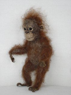 Needle Felted Baby Orangutan by Tamara111, via Flickr