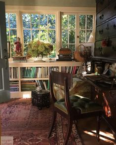 Wonder if we could do low bookshelves like this under our living room window?