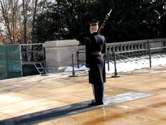 "Tomb Guard ""Walking the Mat"" at the Tomb of the Unknown Soldier at Arlington National Cemetery"