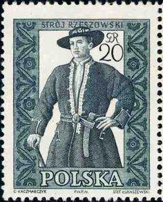 Polonia-Trajes Regionales-Traje de Rzeszow de hombre
