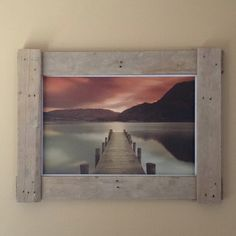 Home made picture Frame using Pallet Wood, thanks for the picture Hugh!