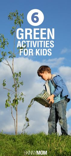 6 Green Activities For Kids! Do these with your children and explain to them the importance of Earth Day!