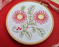 hand embroidery kit summer embroidery kit daisies