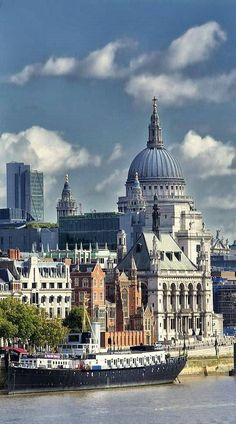St Pauls Cathedral from the Thames River, London, England, UK. Would love to visit London again . Beautiful Places To Visit, Wonderful Places, Amazing Places, Places Around The World, Travel Around The World, Places To Travel, Places To Go, England And Scotland, England Uk