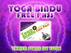 FREE PASS. La nostra tarifa plana de ioga per a tu.    FREE PASS. Nuestra tarifa plana de Yoga para ti.