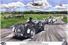 Tony Gaze in a J2 at Goodwood. Lovely fictional painting.