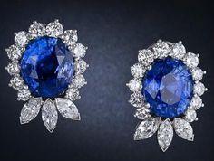 Stunning Sapphire and Diamond Earrings (worth $195,000.00)
