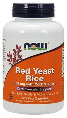 NOW Foods Red Yeast Rice and Coq10, 120 Vcaps *** Quickly view this special  product, click the image : Herbal Supplements