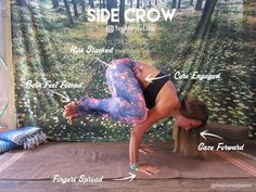 side crow asana yoga