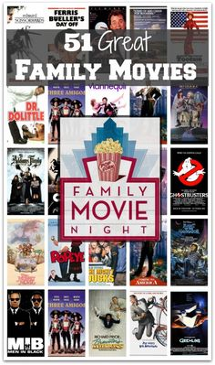 Always looking for fun movies to watch as a family -- these are suggestions to watch with ALL ages! What would you add to this list?
