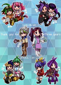 Yuya, Yuzu, Yuto, Ruri, Zarc, Ray, Yugo, Rin, Serena and Yuri