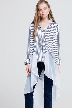 e9e2d68bf99d Vella Striped Unbalanced Shiffon Shirt Discover the latest fashion trends  online at storets.com. Τελευταίες Τάσεις Της ΜόδαςΓυναικεία ...