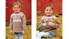 RETROSTRIKK: En herlig jentegenser som luner til høsten.