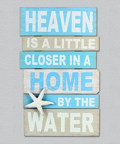 Another great find on #zulily! 'By the Water' Wall Sign #zulilyfinds