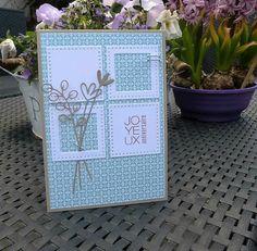 Carte de Kinna: 24-04-2016                              … Card Making Tutorials, Card Making Techniques, Making Ideas, Wedding Anniversary Cards, Wedding Cards, Diy Cards, Your Cards, Emotions Cards, Card Sketches