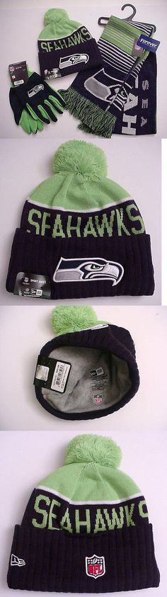 Scarves and Bandanas 169281: Seattle Seahawks Team Logo Gift Set Scarf-Cap-Gloves Nfl Authentics (Onf) -> BUY IT NOW ONLY: $37 on eBay!