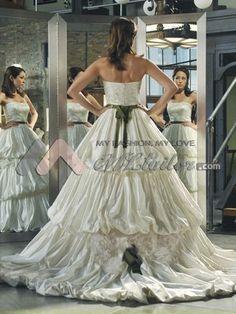 Erica Dasher Designs a Wedding Dress for Autumn Reeser: celebrity wedding dress