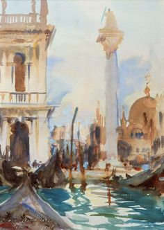 John Singer Sargent Venice (Watercolor, 13 1/2 x 9 3/4 inches) Spanierman Gallery, NYC ============== Click for more information
