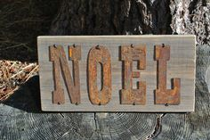 NOEL - Reclaimed Wood Sign