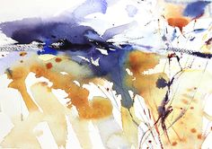 Early March abstract watercolour by Adrian Homersham