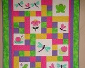 TWIN Quilt PATTERN PDF twin size bed quilt by pixieharmony