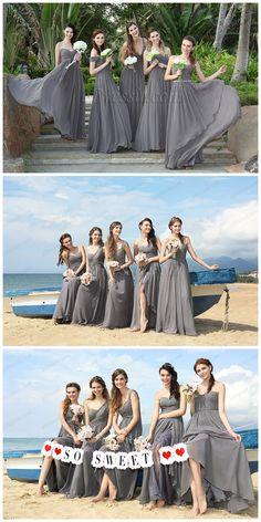 Gorgeous grey bridesmaid dresses! #edressit #bridesmaid_dresses #wedding