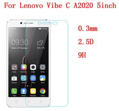0.3mm Safety Tempered Glass for Lenovo Vibe C A2020 5 inch 9H Hard 0.2mm Transparent Screen Protector with Clean Tools Guard